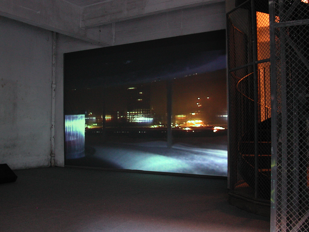 Bertrand Lamarche, Autobrouillard, Exhibition view at the Transpalette, Bourges, 2003